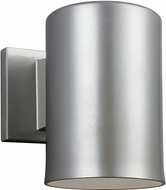 Seagull Outdoor Bullets Contemporary Painted Brushed Nickel Exterior Wall Lighting Fixture