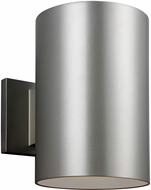 Seagull Outdoor Bullets Contemporary Painted Brushed Nickel Exterior Sconce Lighting