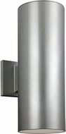 Seagull 8413891S-753 Outdoor Bullets Contemporary Painted Brushed Nickel LED Exterior Lighting Wall Sconce