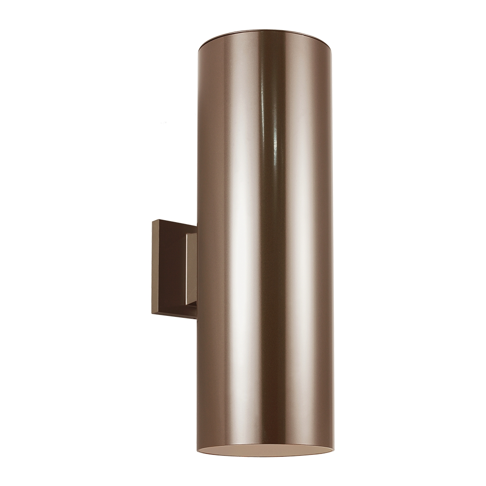 Modern Bronze Wall Sconces : Seagull 8413991S-10 Outdoor Bullets Modern Bronze LED Outdoor Wall Lighting Sconce - SGL-8413991S-10