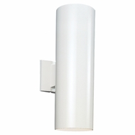 Seagull 8413991S-15 Outdoor Bullets Contemporary White LED Exterior Wall Sconce Lighting