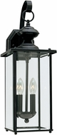 Seagull 8468EN-12 Jamestowne Black LED Outdoor Wall Sconce Lighting
