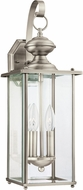 Seagull 8468EN-965 Jamestowne Antique Brushed Nickel LED Outdoor Wall Light Sconce