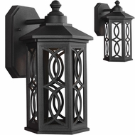 Seagull 8517091S-12 Ormsby Black LED Exterior Wall Lamp