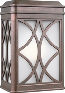 Seagull 8519601-44 Melito Contemporary Weathered Copper Outdoor Lamp Sconce
