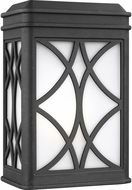 Seagull 8519601EN3-12 Melito Modern Black LED Exterior Wall Sconce Lighting
