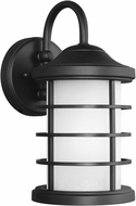 Seagull 8524451DEN3-12 Sauganash Modern Black LED Exterior Lighting Wall Sconce