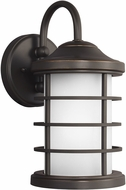 Seagull 8524451DEN3-71 Sauganash Contemporary Antique Bronze LED Outdoor Wall Lighting Sconce