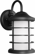 Seagull 8524451EN-12 Sauganash Modern Black LED Exterior Sconce Lighting
