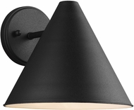 Seagull 8538501EN-12 Crittenden Modern Black LED Exterior Wall Sconce Lighting