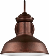 Seagull 8547701EN-44 Fredricksburg Modern Weathered Copper LED Exterior Lighting Wall Sconce