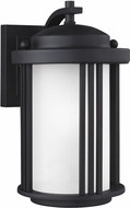 Seagull Crowell Black Outdoor Wall Sconce Light