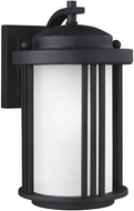 Seagull 8547901DEN3-12 Crowell Contemporary Black LED Outdoor Wall Lighting Fixture