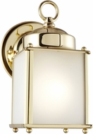 Seagull 8592001EN3-02 New Castle Polished Brass LED Exterior Wall Sconce