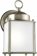 Seagull 8592001EN3-965 New Castle Antique Brushed Nickel LED Exterior Light Sconce