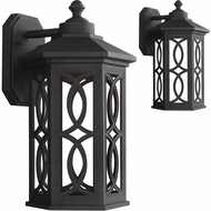 Seagull 8617091S-12 Ormsby Black LED Outdoor Wall Sconce Light