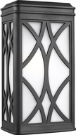 Seagull 8619601EN3-12 Melito Modern Black LED Outdoor Lighting Sconce