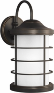 Seagull 8624451DEN3-71 Sauganash Contemporary Antique Bronze LED Exterior Wall Light Fixture