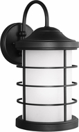 Seagull 8624451EN-12 Sauganash Contemporary Black LED Outdoor Wall Lamp