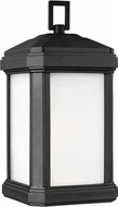 Seagull 8647401EN3-12 Gaelan Contemporary Black LED Exterior Wall Lighting Sconce