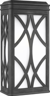 Seagull 8719601-12 Melito Contemporary Black Exterior Wall Mounted Lamp