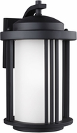 Seagull Crowell Black Outdoor Lighting Sconce