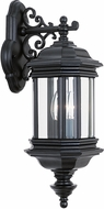 Seagull 8840EN-12 Hill Gate Traditional Black LED Outdoor Lighting Sconce