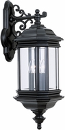 Seagull 8841EN-12 Hill Gate Traditional Black LED Exterior Lamp Sconce