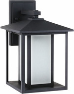 Seagull 89031EN-12 Hunnington Contemporary Black LED Outdoor Wall Light Sconce