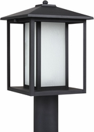 Seagull 89129-12 Hunnington Contemporary Black LED Exterior Lamp Post Light Fixture