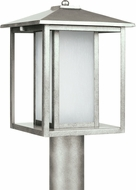 Seagull 89129-57 Hunnington Modern Weathered Pewter LED Outdoor Post Light Fixture