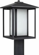 Seagull 89129EN-12 Hunnington Contemporary Black LED Exterior Pole Lighting Fixture