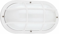 Seagull 89806-15 Bayside Modern White LED Outdoor Wall Lighting Sconce
