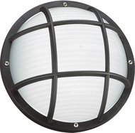 Seagull 89807EN-12 Bayside Contemporary Black LED Exterior Wall Light Sconce