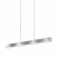 Sonneman 1734.16 Corso Linear Contemporary Bright Satin Aluminum LED 34.5  Kitchen Island Light