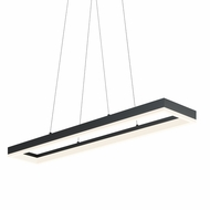Sonneman 2310.25 Corona Modern Satin Black Finish 2  Tall LED Kitchen Island Light