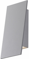 Sonneman 2361.74.WL Angled Plane Modern Textured Gray LED Interior/Exterior Light Sconce