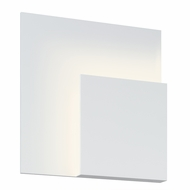 Sonneman 2369.98 Corner Eclipse Contemporary Textured White Finish 8 Wide LED Wall Light Fixture