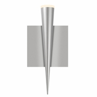 Sonneman 2381.16 Micro Cone Modern Bright Satin Aluminum Finish 10  Tall LED Wall Light Sconce