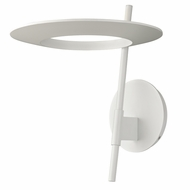 Sonneman 2416.03 Ringlo Contemporary Satin White Finish 10  Wide LED Wall Sconce Light