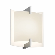 Sonneman 2450.01 Double Arc Contemporary Polished Chrome Finish 6  Wide LED Wall Lighting Sconce