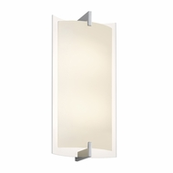Sonneman 2452.01 Double Arc Modern Polished Chrome Finish 12.5  Tall LED Wall Sconce Lighting