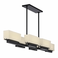 Sonneman 2466.51 Aspen Black Brass Finish 48.5  Wide LED Kitchen Island Lighting