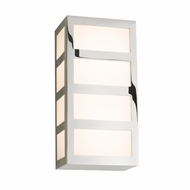 Sonneman 2510.35 Capital Contemporary Polished Nickel Finish 5 Wide LED Wall Light Sconce