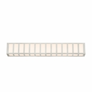 Sonneman 2518.13 Capital Contemporary Satin Nickel Finish 35  Wide LED Bathroom Light Fixture