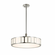 Sonneman 2522.35 Capital Modern Polished Nickel Finish 9  Tall LED Drum Pendant Lighting Fixture