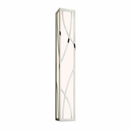 Sonneman 2533.35 Haiku Modern Polished Nickel Finish 5  Tall LED Bath Sconce