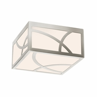 Sonneman 2538.13 Haiku Modern Satin Nickel Finish 5  Tall LED Flush Ceiling Light Fixture
