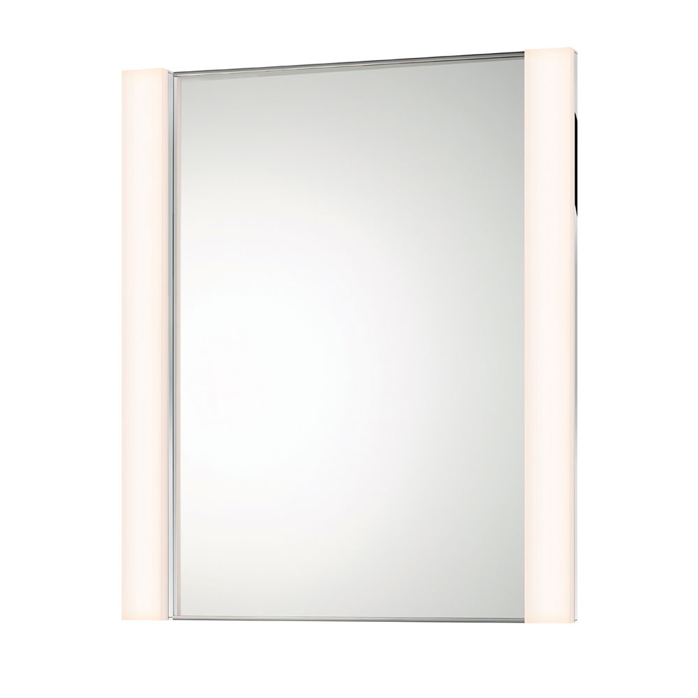 Sonneman vanity contemporary polished chrome led Polished chrome bathroom mirrors