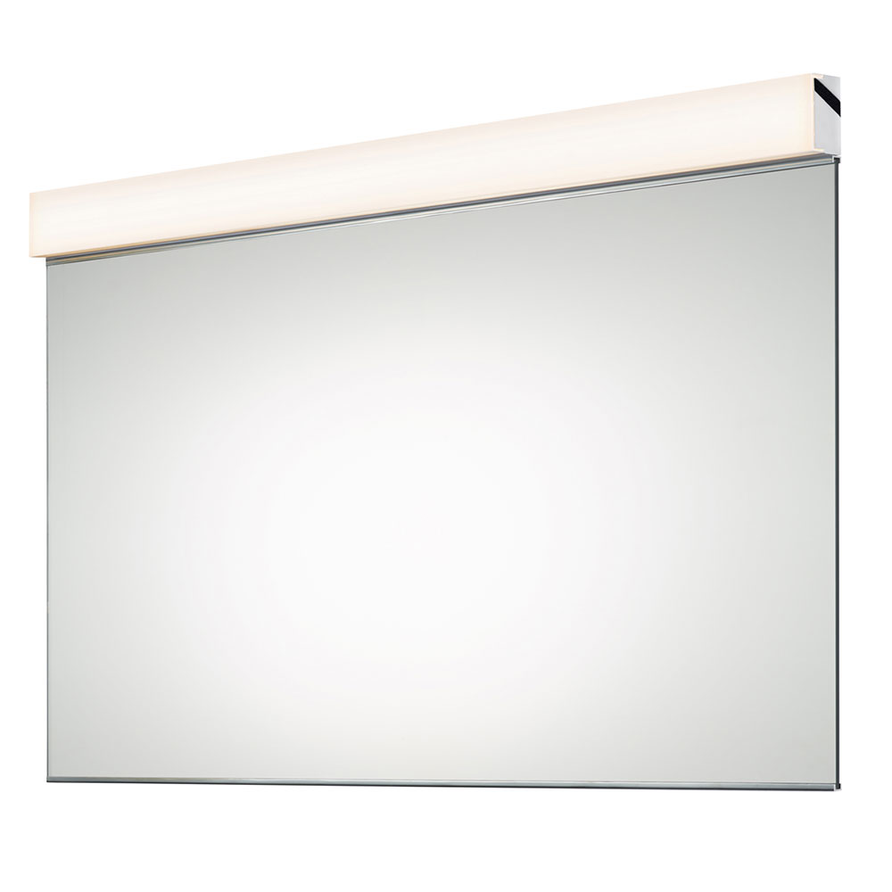 Sonneman vanity modern polished chrome led bath for Wall mounted mirror